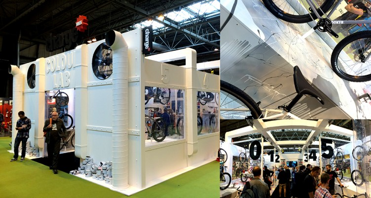 Up and coming brand Charge, enclosed the whole stand in what they called the �Colour lab�, a huge white stand that was enclosed, so always looked busy, therefore creating a buzz around it.
