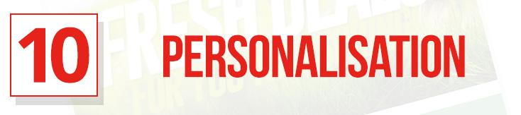 10 - Personalisation